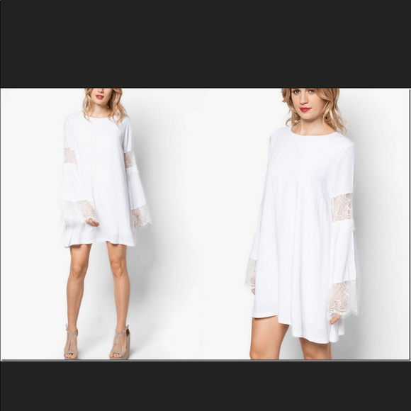 Lulu's Dresses & Skirts - White dress with bell sleeves